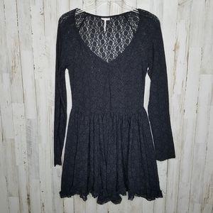 Intimately Free People Black Lace Dress Chemise